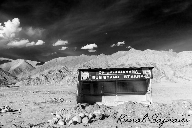 Stakna Bus Stop, Leh, India