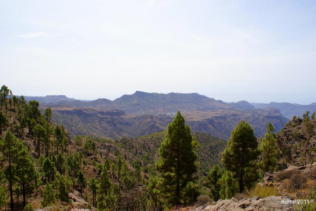 vistas interior isla desde el sendero