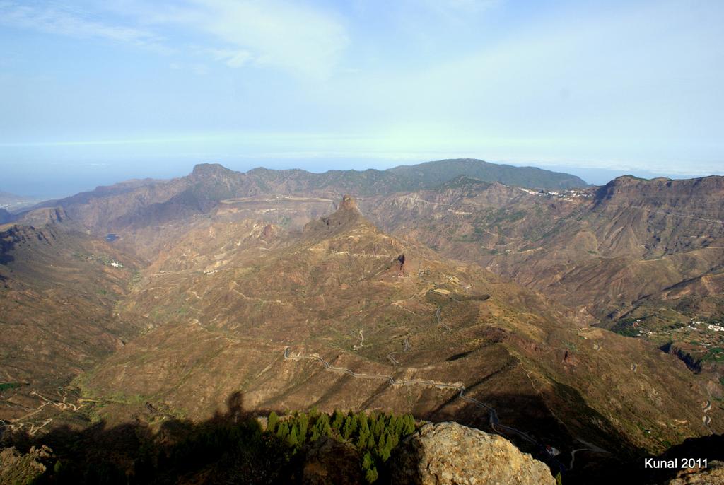 Roque Bentayga desde el Roque Nublo en Gran Canaria