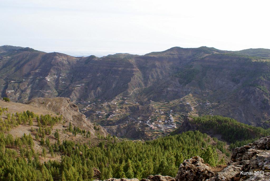 Vistas a la Culata desde el Roque Nublo en Gran Canaria
