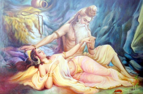 Vishamitra y Menaka