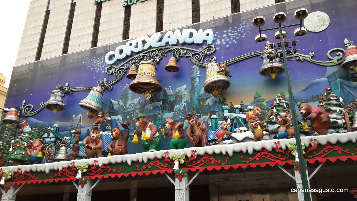 Madrid mural navide o el corte ingles agusto en canarias for Mural navideno