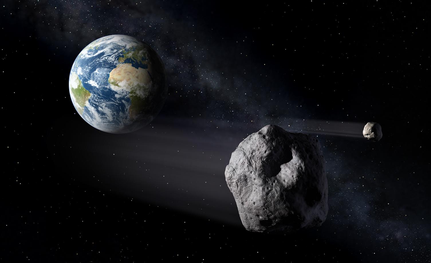 asteroide pasando la tierra