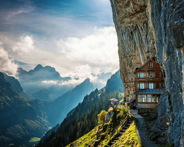Äscher Cliff, Switzerland - myswitzerland.com