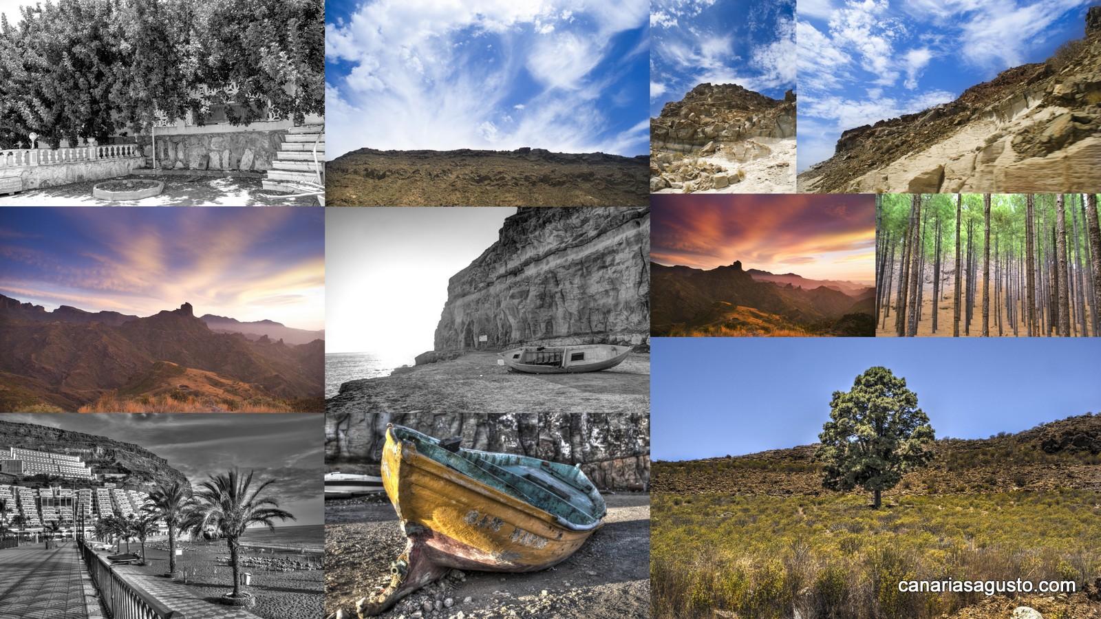 Collage de Fotografias de Gran Canaria