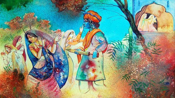 Krishna Radha Holi