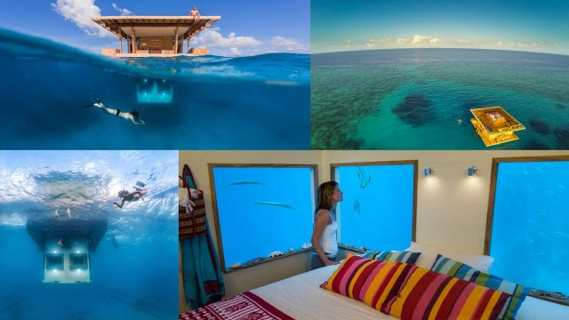 The Manta Resort, Zanzibar- http://www.boredpanda.com/manta-resort-genberg-floating-underwater-hotel-room/