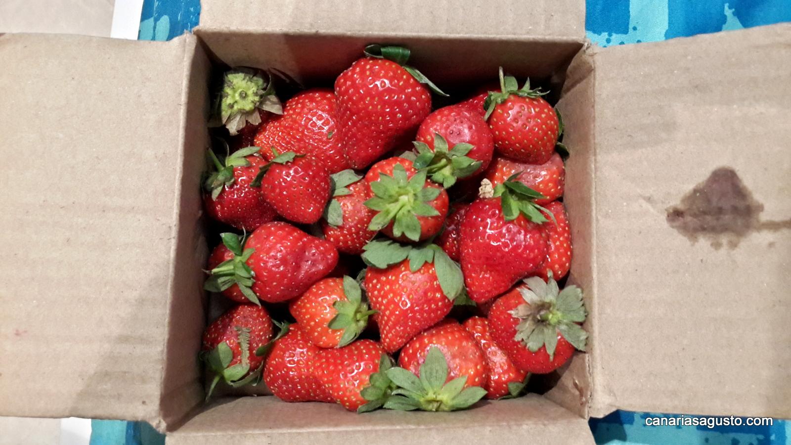 Fresas en caja