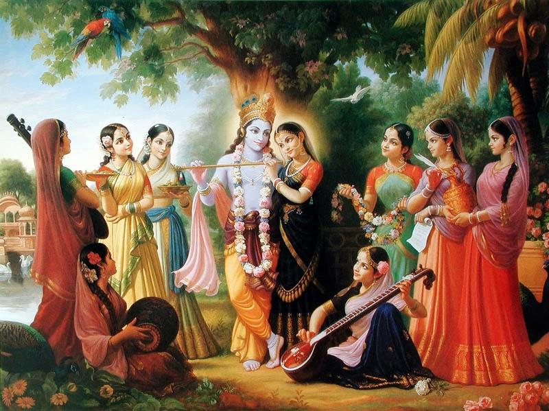 Krishna con sus Gopis