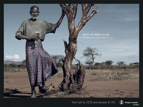 cerveza y agua