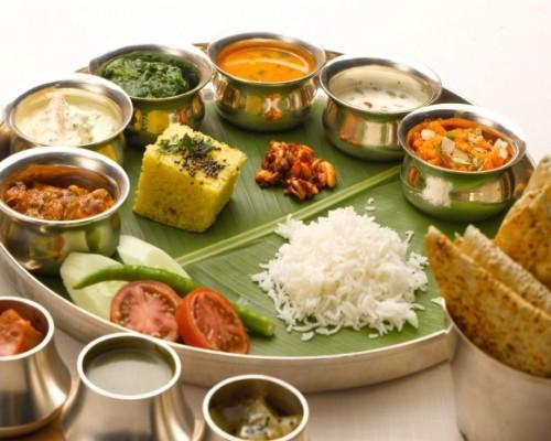 plato indio thali