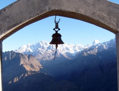 templo - campana - himalaya