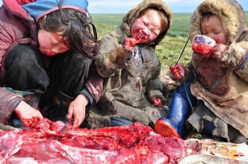 Comida de familia siberiana