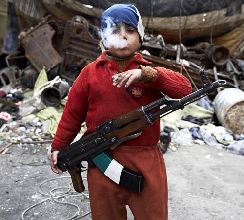 Rebelde sirio de 7 anos