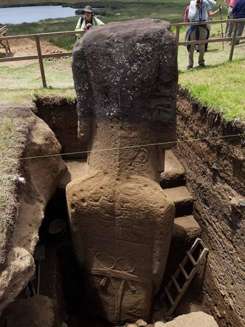 Petroglifos en los Cuerpos de la Isla de Pascua