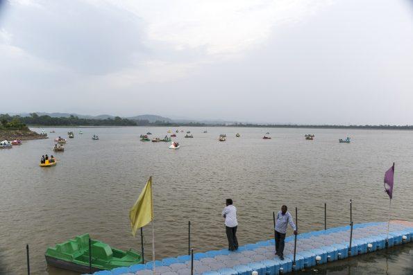 Lago Sukhna en Chandigarh