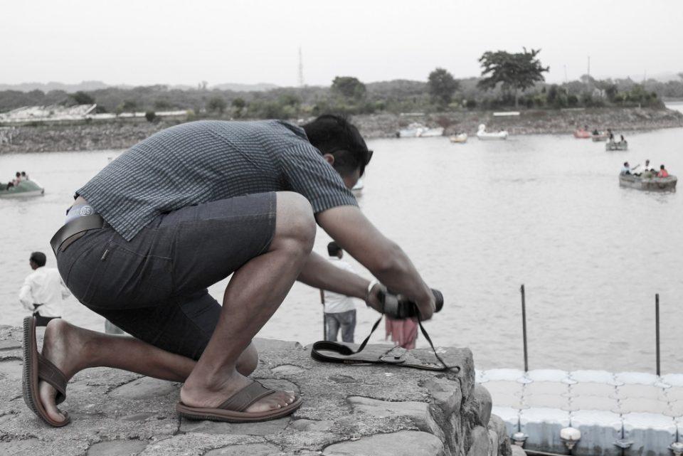 fotografiando el lago