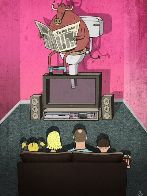 La mierda que echan en la television