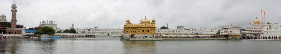 panoramica del templo dorado amritsar