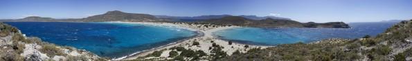 Panorama Playa Simos desde la cima del monte