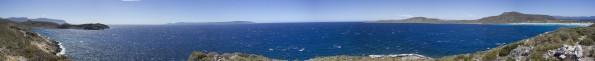 Mar Mediterraneo desde la Cima del monte de la playa de Simos