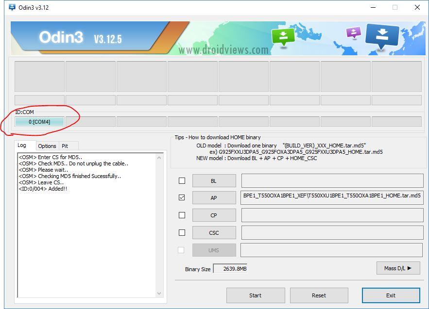 Odin - Firmware Samsung
