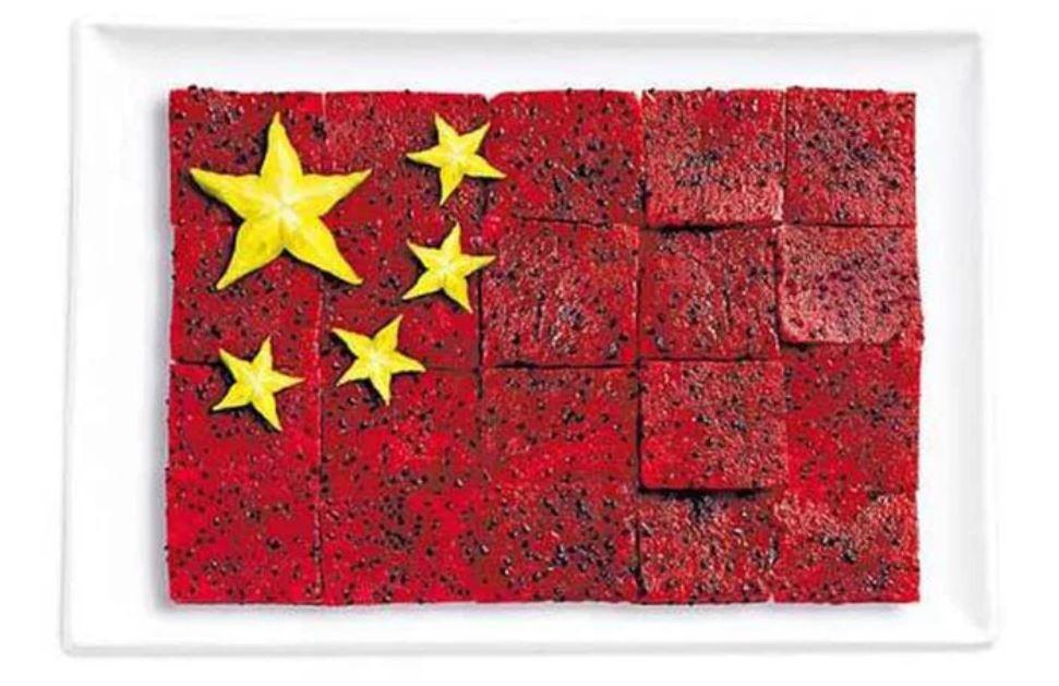 Bandera China - Pittaya, Fruta Estrella