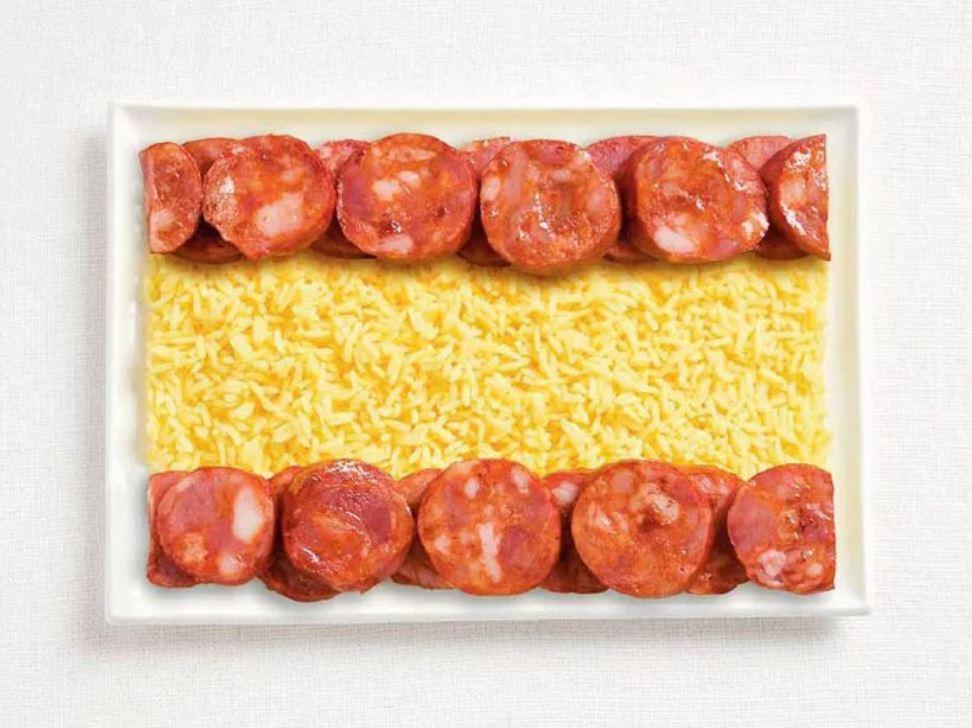 Bandera Espana - Chorizo y Arroz