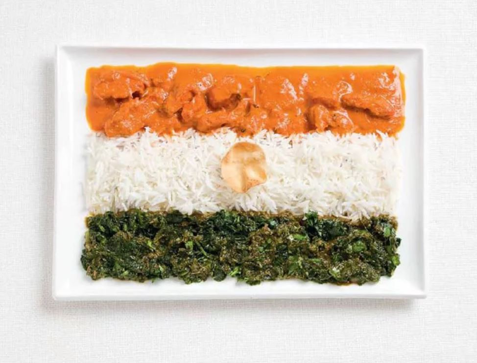 Bandera India - Curry, Arroz y Papaddum