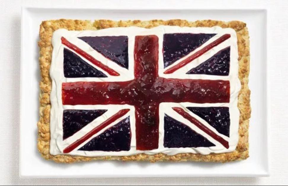 Bandera Reino Unido - Scones, Crema y Mermeladas