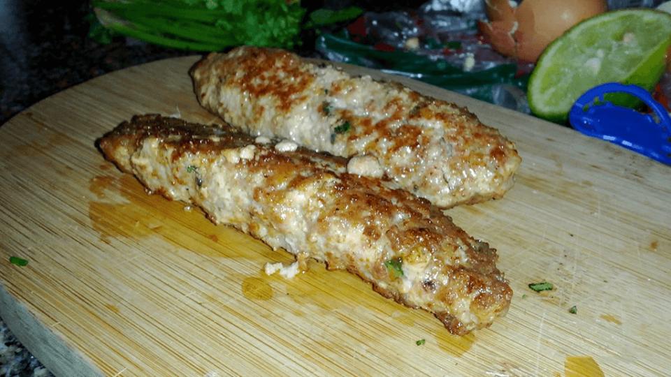 Seekh Kebabs de Pollo