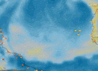 Calima sobre Oceano Atlantico