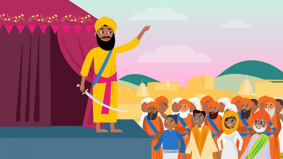Guru Gobind Singh quien daria su vida por su fe