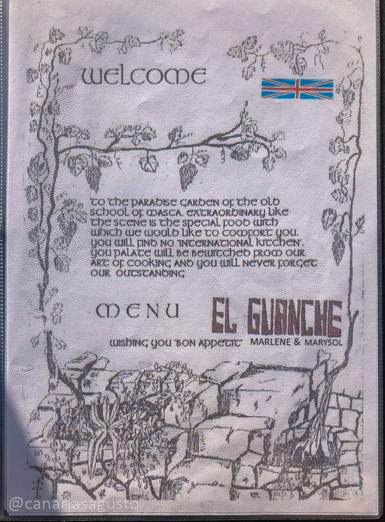 Carta El Guanche en Masca