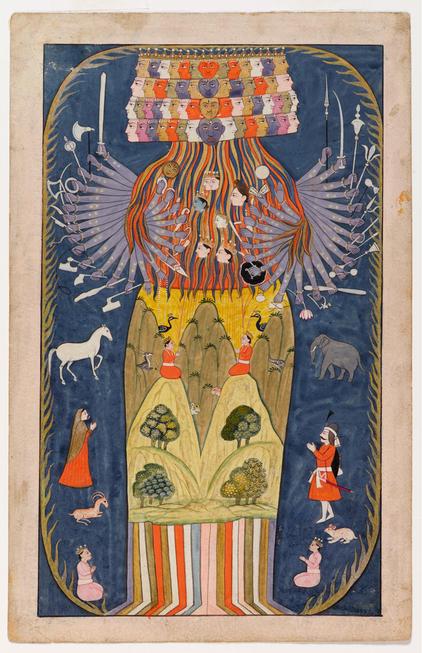 Vishvarupa India Kashmir 1800s Artista Desconocido