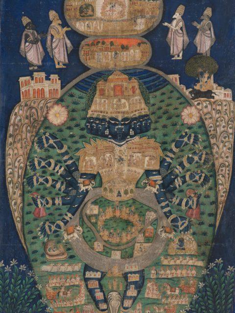 Pintura del Siglo 19 Vishvarupa