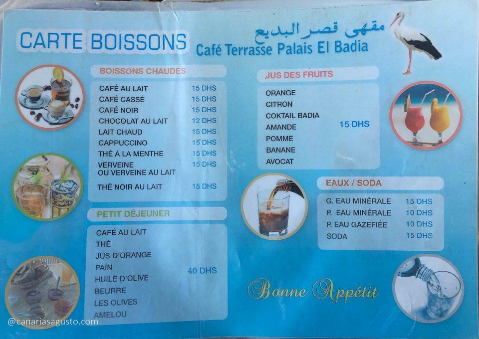 Carta - Restaurante Palais El Badia (1)