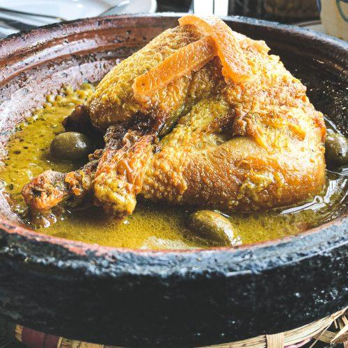Pollo Aceitunas y Limón Preservados