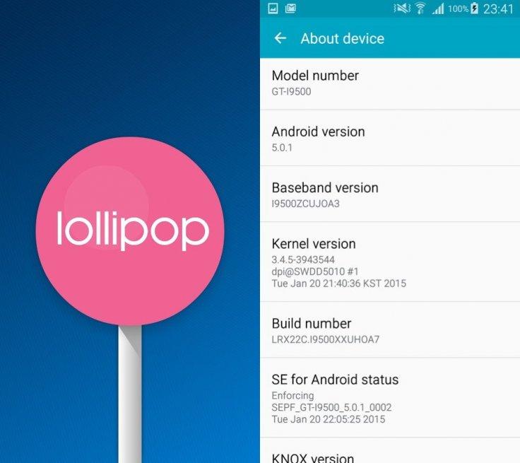 Menu Android Lollipop